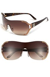 Fendi Metal Shield Sunglasses (a favourite fashion au repin of www.vipfashionaustralia.com )