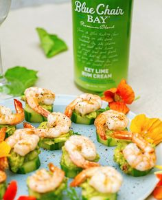 Seconds, thirds… who's counting? This key lime rum cream shrimp cucumber bite recipe is the perfect snack. It uses fresh ingredients such as avocado, cilantro, and green onion. Perfect for an outdoor treat!  #bluechairbay #keylimerumcream #BCBHappyHour Key Lime Rum Cream, Cucumber Bites, Shrimp Recipes, Fresh Rolls, Vegetable Recipes, Seafood, Appetizers, Cooking Recipes, Snacks