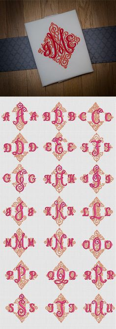 The customizable 3 letter Adorn Trio Ornamental Monogram is an absolutely stunning monogram comprised of swirls, swashes and dots