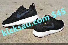Femmes Nike Roshe Roshe Courir Voile Noire Mouchetée Suprématiste Noir Et Blanc