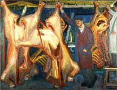 The Butcher Shop, Panayiotis Tetsis Hellenistic Period, Video Artist, Butcher Shop, Post Impressionism, Greek Art, Art Database, Arts Ed, Oil Painting Reproductions, Classical Art