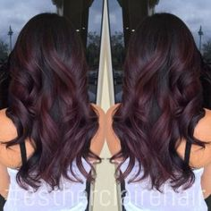 #Hair Black Cherry Burgundy Hair Color