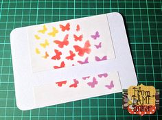 Stenciling on card