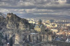 Narikhala, ancient fortress in tbilisi  I have no idea where this is - but it looks amazing!