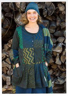 """Gudrun Sjödens Winterkollektion 2015 - Diese farbstarke Bluse ist ein absoluter Hingucker! Bestelle jetzt deine """"Field"""" Bluse aus Öko-Baumwolle: http://www.gudrunsjoeden.de/mode/produkte/blusen-tuniken/bluse-field-aus-oeko-baumwolle"""