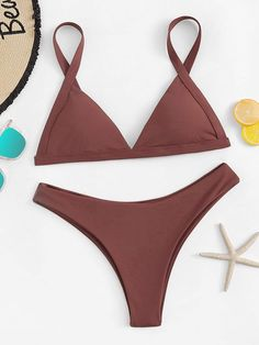 adc0a8264cc5e triangle top with high cut bikini set.  swimwear  beachwear  women  fashion