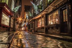 What the Dickens The Shambles York UK, is like a scene from a Charles Dickens book. Scrooge could be pictured walking down this street. Andrew Warriner
