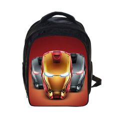 Super Hero Kids Character High-Quality Durable Waterproof Comfortable Backpack 30 Patterns