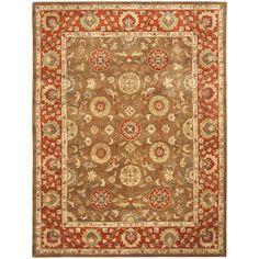 Safavieh Handmade Heritage Timeless Traditional Beige/ Rust Wool Rug (7'6 x 9'6), Multi-Color (Cotton, Oriental)