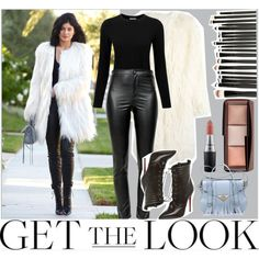 Kylie Jenner // Get The Look by rebecaponto on Polyvore featuring Pure Collection, DKNY, Étoile Isabel Marant, Ella Rabener, Hourglass Cosmetics, MAC Cosmetics, women's clothing, women's fashion, women and female