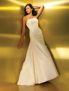 A-Line/Princess Strapless Chapel Train Taffeta Wedding Dress With Ruffle Lace Beading Beaded Lace, Lace Beading, Chapel Train, New Day, Online Boutiques, One Shoulder Wedding Dress, Wedding Gowns, Princess, Products