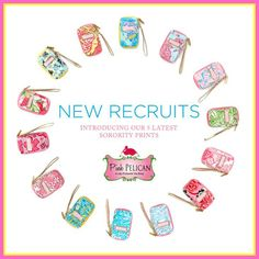 Lilly Pulitzer Greek Carded ID Wristlets will be coming soon to The Pink Pelican!