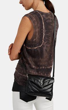 YSL black on black SAINT LAURENT Monogram Loulou Small Leather ... ad4101da7fa29
