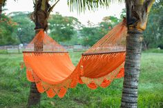 Add this orange hammock to your summer must-have list.