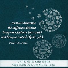 Let It Go by Karen Ehman - Bible Study - might need to recommend to a friend!