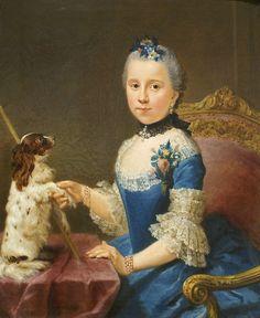 Portrait de Marie Sophie Friedericke von Holzhausen   peint vers 1758 par Johann Georg Ziesenis