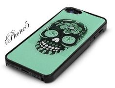 Amazon.com: Black Snap-On iPhone 5 Cover Case. GREEN SUGAR SKULL Logo Design for iPhone 5. Height: 4.95 Inches X Width: 2.31 Inches X Thickn...