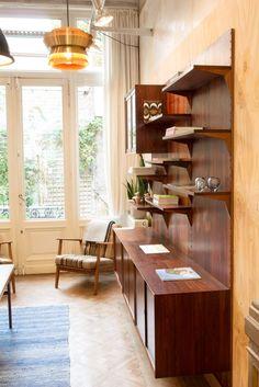 Meet The Trader: Geert Van Halewijck of Møbelfabrik Retro Furniture, Antique Furniture, Mid Century Furniture, Bookcase, Van, Meet, Shelves, Blog, Home Decor