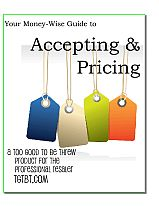 Learn how to accept and price incoming merchandise for resale.