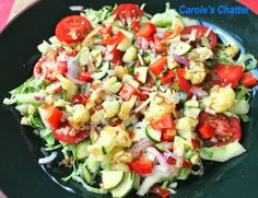 Curried Cauliflower in a Salad by Carole's Chatter Pasta Salad, Cobb Salad, Curried Cauliflower, Salad Recipes, Cabbage, Quotations, Ethnic Recipes, Friday, Food