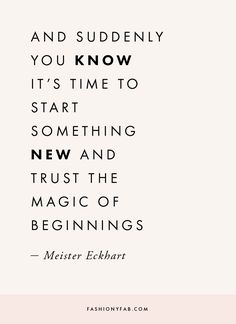 New Beginnings Quote. quote, inspirational quote, motivation, motivational quote, quotes to live by, positive quote, #quote, #inspiration, #inspirationalquote, #motivation