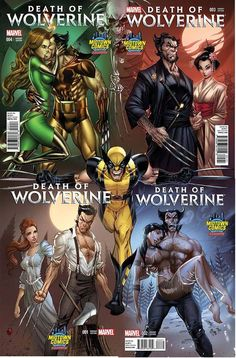 Death of Wolverine variant covers for Midtown Comics in New York City