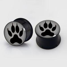 Paw Claw Flesh Tunnel Ear Plug Bear Paw Claw Black by EarsPlugs, $12.88