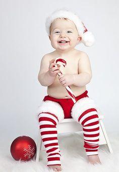 Candy Cane Christmas Leggings. Preciosa fotografía para las felicitaciones