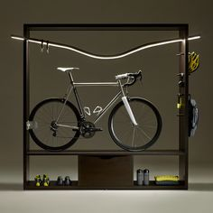 """the """"enlightened"""" book-shelf that turns yourbike in a work of art"""