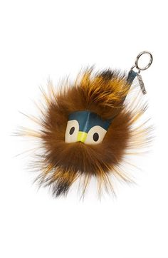 Fendi 'Charms Prisma Monster' Genuine Silver Fox Key Fob available at #Nordstrom