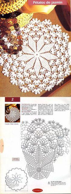 Ideas Crochet Rug Tutorial Crafts For 2019 Crochet Dollies, Crochet Doily Patterns, Crochet Mandala, Crochet Art, Crochet Home, Thread Crochet, Irish Crochet, Crochet Motif, Crochet Designs