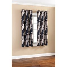 Mainstays Wave Print Casual Curtain Panels, Set of 2