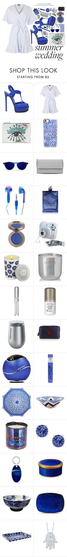 """""""Attending a Royal Wedding"""" by imaniasaboor ❤ liked on Polyvore featuring Casadei, Topshop, Kenzo, Casetify, STELLA McCARTNEY, The Beautiful Mind Series, Fujifilm, Bond No. 9, Tom Dixon and Chantecaille"""