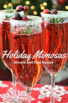 Last Minute Holiday Party Tips + Holiday Mimosa Recipe – Jessi Living Lovely *disclaimer – this post is part of the Evite Influencer Program I don't know where November went, and now we're almost through December. It's crazy how time… Continue Reading → Christmas Punch, Christmas Treats, Holiday Treats, Holiday Recipes, Christmas Crack, Holiday Punch, Christmas Morning, Christmas Party Drinks, Christmas Sangria