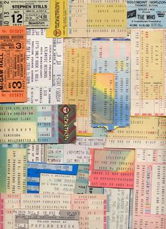 Concert Tickets to Classic Rock Concerts I wish I had been to these! Any of them! :O