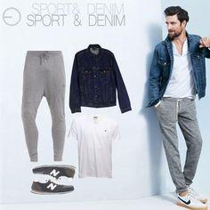 Haz de tus días relajados la alternativa perfecta para lucir sport. Puedes combinar los jogger pants con chaquetas denim en diversas tonalidades de azul. Unos zapatos tipo sneakers complementarán tu look.