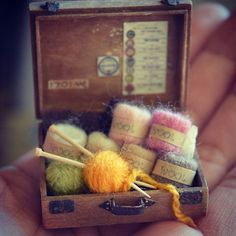 miniature Knitting By yukitsplace
