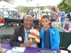 Michael with Bryan Collier at the Chappaqua Children's book festival 2013 these authors are pure inspiration to kids and adults hope to see them on 9/27/2014 we love you guys