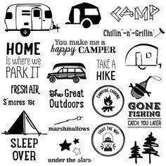 Clipart Chalkboard Summer Camping by JubileeDigitalDesign