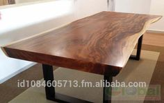 Check out this product on Alibaba co. Live Edge Tisch, Live Edge Table, Live Edge Wood, Wood Slab Table, Living Furniture, Acacia Wood, Dining Table, Decor Styles, App