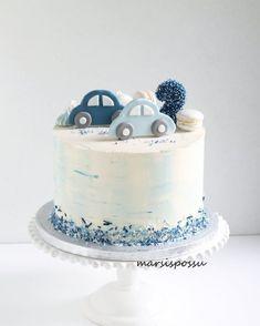 No photo description available. - # available # description # photo cake decorating recipes kuchen kindergeburtstag cakes ideas Boys First Birthday Cake, Baby Birthday Cakes, Baby Boy Cakes, Gateau Baby Shower, Baby Shower Cakes, Cake Cookies, Cupcake Cakes, Bolo Cake, Birthday Cake Decorating
