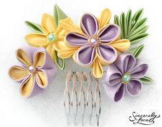 Summer Sage Kanzashi by SincerelyLove