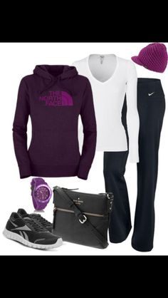 Cute workout outfit- maybe if I get some really cute workout clothes, I will get back in the gym! Minus the hat Sweater Weather Outfits, Comfy Fall Outfits, Sporty Outfits, Athletic Outfits, Spring Outfits, Cute Outfits, Gym Outfits, Athletic Wear, Tomboyish Outfits