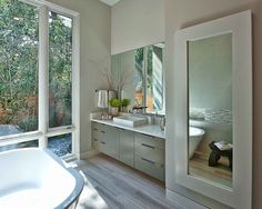 Windows open to side yard.  Bathroom 5x5 Design, Pictures, Remodel, Decor and Ideas - page 59