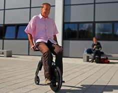 The Yikebike is New Zealand's answer to the Segway. It borrows from the design of the  old penny farthing bicycles.
