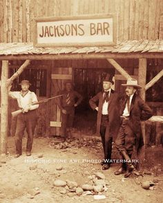 Old West Saloon Bar Vintage Photo Cowboys Idaho 1898 8x10 21646 | eBay