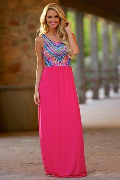 Won't Back Down Maxi Dress - Hot Pink from Closet Candy Boutique