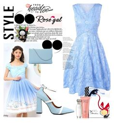 """ROSEGAL FASHION 34 !"" by jasmine-monro ❤ liked on Polyvore featuring Disney, Estée Lauder, Wet n Wild, VOV, MAC Cosmetics, vintage, dress, shoes, bag and rosegal"