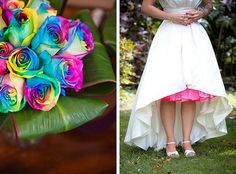 Rainbow Rose Wedding Bouquet