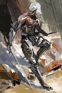 """warrior""-Night lamp gone dark. Metal Gear 3, Raiden Metal Gear, Metal Gear Solid Series, Metal Gear Rising, Character Concept, Character Art, Concept Art, Character Design, Cry Anime"